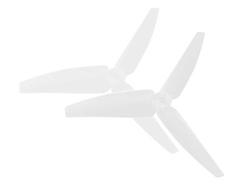 Microheli Plastic 3 Blade Propeller 82mm Tail Blade (WHITE) - BLADE 200 SRX (Srx 200 Microheli Blade)
