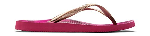 Vionic Women's Beach Noosa Flip Flop, Berry Tiger Bronze, 11 M US ()