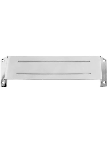 Deltana MSH158U26 Solid Brass Mail Slot Hood for Open Back Plates in Polished Chrome