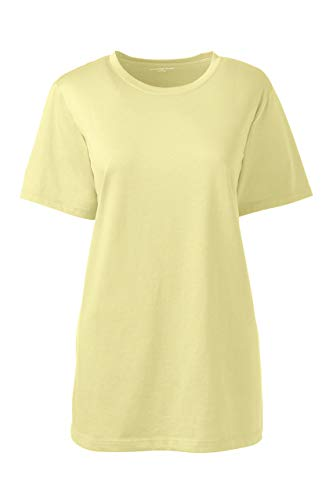 - Lands' End Women's Petite Relaxed Fit Supima Cotton Crewneck Short Sleeve T-Shirt