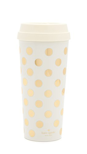 Kate Spade New York Thermal Mug, Gold Dot, , Gold/Dots (Coffee Travel Mug For Women compare prices)