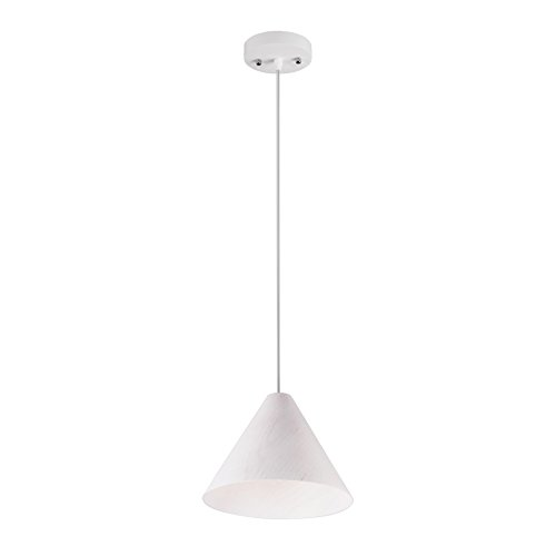 MAYKKE Carnaby Wooden Pendant Lamp Modern Scandinavian Conical Wood Hanging Ceiling Light Fixture with Adjustable Cord Ideal for Desks, Dining Rooms, Kitchens, Living Rooms White, MDB1000101 - - Amazon.com