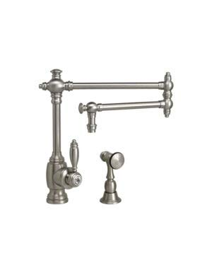 1ap Antique - Waterstone 4100-18-1-AP Towson Kitchen Faucet - 18