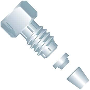 1//4 Hex; 1//EA Idex VHP-200 VHP Fitting 10-32 Coned Male Nut//Ferrule SS 1//16 OD Tubing