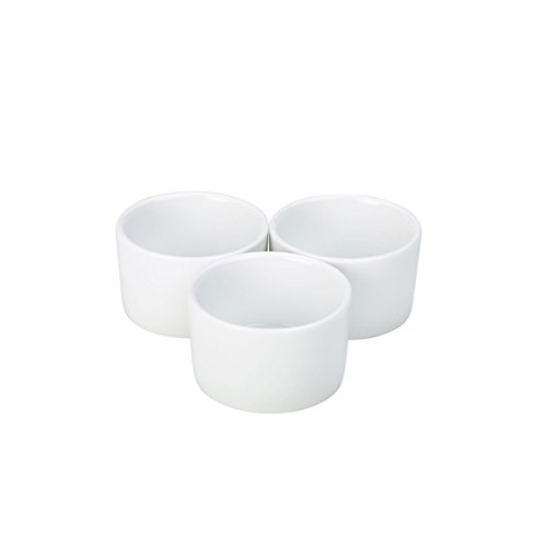 Genware NEV-RAMCON8-W Royal Contemporary Smooth Ramekin, 8 cm (Pack of 6)