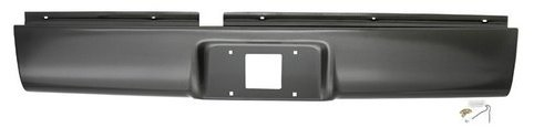 Precision Steel Roll Pan (IPCW CWRS-94S10 Chevrolet S10/S15 Steel Roll Pan with License Plate Hole and Light)