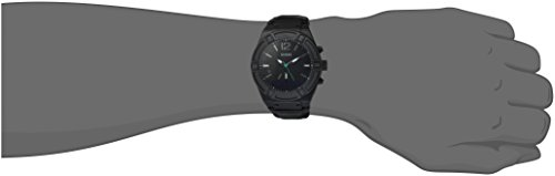 GUESS-Mens-CONNECT-Smartwatch-with-Amazon-Alexa-and-Genuine-Leather-Strap-Buckle-iOS-and-Android-Compatible-Black