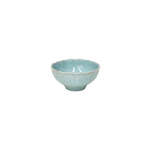 "Casafina Stoneware Ceramic Impressions Collection Soup/Cereal Bowl D6.5"" H3.25"" 22.75 oz. Robins Egg Blue"