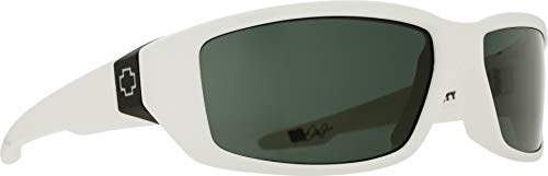 Spy Optic Dirty MO Sunglasses, White/Signature Happy Gray/Green, 59 mm (Dirty Mo Spy Sonnenbrille Polarisiert)