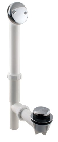Westbrass Y593244CP White Tubular Tip-Toe Bath Waste and Overflow Assembly, Polished ()