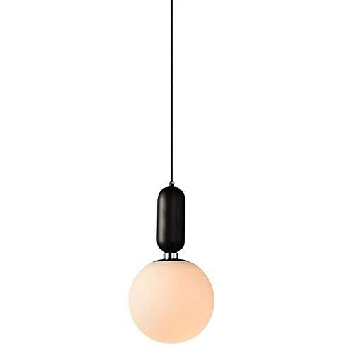 Eclairagluminair Lustres Nordic Single-Head Salon Chambre Chevet Lustre Post-Moderne Personnalité Créatrice Restaurant Bar Lampes Boule De Verre
