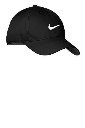 Nike Golf Dri-Fit Swoosh Front Cap, Black/White