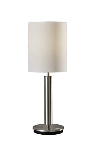 """Adesso 4173-22 Hollywood Table Lamp, 27"""", Satin Steel"""