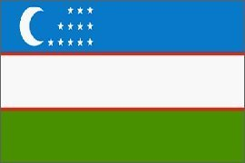 Uzbekistan Flag Polyester 3 ft. x 5 ft.