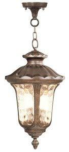 (Livex Lighting 7665-50 Oxford 3 Light Outdoor Hanging Lantern, Moroccan Gold)