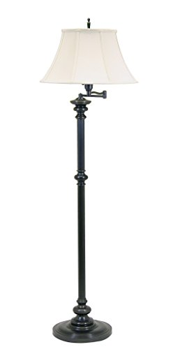 - House Of Troy N604-OB Newport Collection Portable Floor Lamp with Off-White Softback Shade, 61