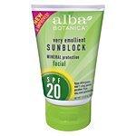 Alba Botanica Mineral Sun Care Facial Mineral Sunscreen Fragrance Free for Sensitive Skin (SPF 20) 4 fl. oz. - (Alba Botanica Spf 20 Sunscreen)