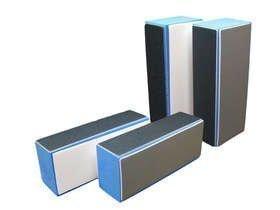 Hochglanz Polierblock Blau