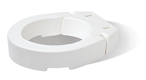Carex Health Brands Hinged Toilet Seat Riser, Round