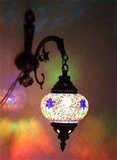 Mosaic Standing Floor 3 Globe, Handmade Authentic Tiffany Lighting Moroccan Lamp Glass Stunning Bedside Night Lights Brass&Glass Ottoman Turkish Style