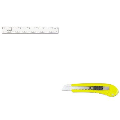 KITBOS10280UNV59022 - Value Kit - Stanley Black amp; Decker Inc Standard Snap-Off Knife (BOS10280) and Universal Acrylic Plastic Ruler (UNV59022)