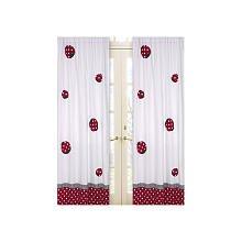 Jojo Designs Ladybug (Sweet Jojo Designs 2-Piece Red and White Polka Dot Ladybug Window Treatment Panels)