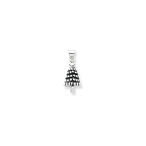 - 925 Sterling Silver Christmas Tree Necklace Pendant Charm Holiday Fine Jewelry Gifts For Women For Her