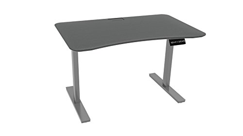 - Ergo Elements Height Adjustable Electric Standing Desk with 4' Top 4 Memory Buttons LED Display, Grey with Grey Top