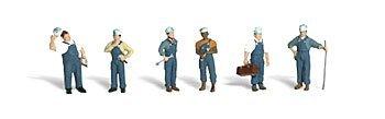 (Woodland Scenics O Scale Scenic Accents Figures/People Set Train Mechanics (6))