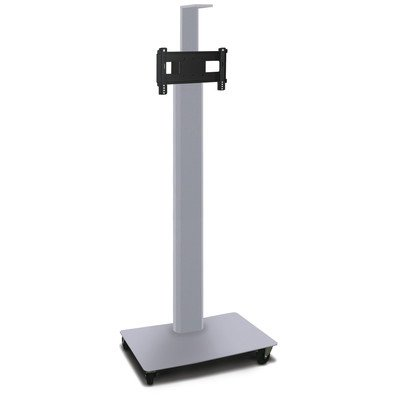 """Vizion TV/Monitor Stand and Mount AV Cart Finish: Silver, Size: 80"""" H x 36"""" W x 24"""" D -  Marvel Office Furniture, MVPFE3280ST"""