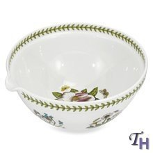 Portmeirion Botanic Garden Mixing Bowl With Spout 5 Qt