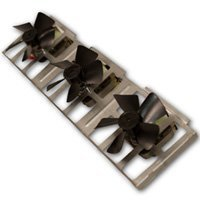 - Comfort Flame BK3 Fireplace Wood Burning Triple Fan Blower for Fireplaces with Manual Control