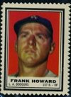 1962 Topps Stamps (Baseball) Card# 76 Frank Howard of the Los Angeles Dodgers Ex Condition from Topps