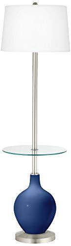 Monaco Blue OVO Tray Table Floor Lamp - Color + Plus (Monaco Contemporary Table Lamp)