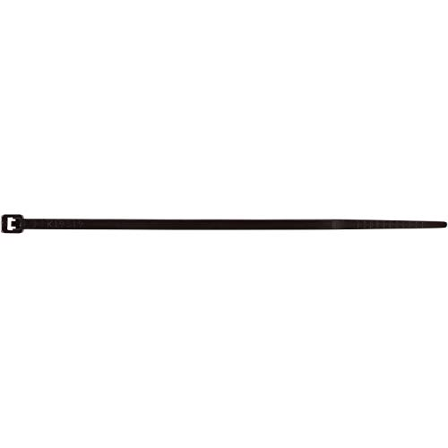 Morris Products Ultraviolet Black Nylon Cable Ties - 6 Inch Length -Heavy Duty, 40-Pound Tensile Strength - Cable Organization Applications - UV Safe, UL Approved - Pack of 1000