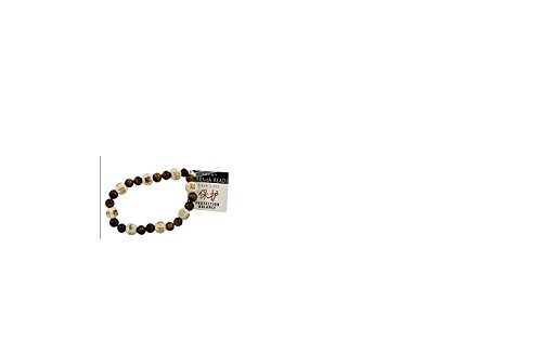 Bundle -2 Items: Lucky Karma Bracelet with Tiger's Eye and Bracelet Agate Shooting Star By Zorbitz (Alerts Card Text Discover)