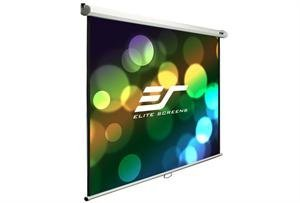 Elite Screens Manual B Series, 120-inch Diagonal 4:3, Manual Pull-Down Projection Screen with Auto Lock