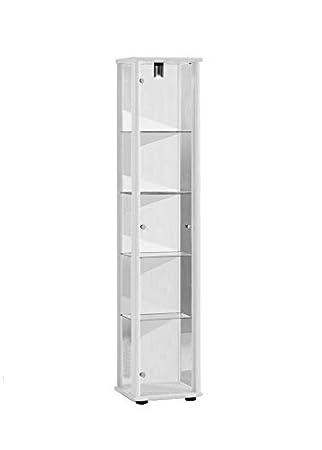 Vitrine 176x37x33 Cm Collection Miniature Couleur Blanc Avec 4