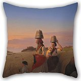 Alphadecor Throw Pillow Case 20 X 20 Inches / 50 By 50 Cm(two Sides) Nice Choice For Relatives,monther,play Room,lover,bedroom,her Oil Painting Jørgen V. Sonne - Rural Scene