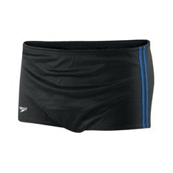 Hip Leg Brief (Speedo 705970 Boys Poly Mesh Square Leg Training Suit (Youth), Black/Blue, 26)