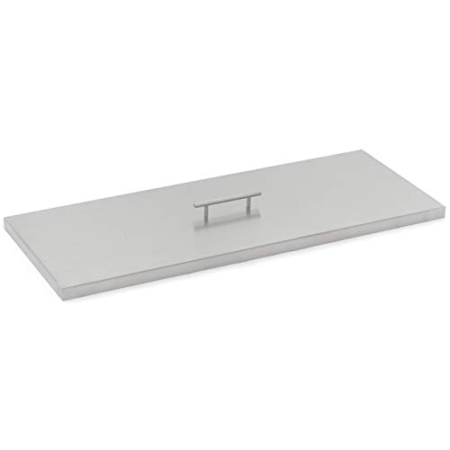 Lakeview Outdoor Designs 33-Inch Stainless Steel Burner Lid - Fits 30-Inch Rectangular Fire Pit Pan