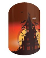 Haunted Full Nail Decals Nail Wraps Set of 18 -