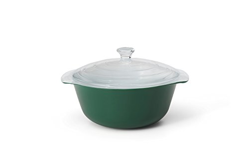 Creo SmartGlass Cookware, 2-quart Casserole Dish with Lid Cover, Green (Best Casserole Dishes Ever)
