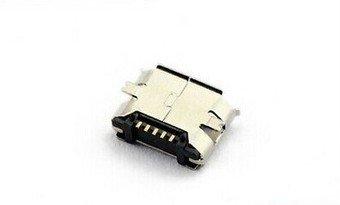 Gimax 200pcs Micro USB 5P,5-pin Micro USB Jack,5Pins Micro USB Connector Tail Charging socket