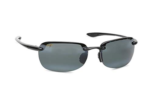 - Maui Jim Sunglasses | Sandy Beach 408-02 | Polarized Rimless, Gloss Black, with Patented PolarizedPlus2 Lens Technology