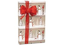 Woodland SNOWMEN Snowman Christmas Gift Wrap Wrapping Paper - 16ft (Snowman Country Christmas Boxes)