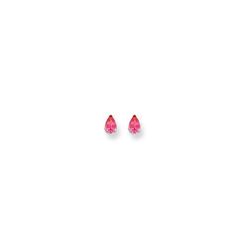Best Designer Jewelry 14k White Gold Pink Spinel Earrings