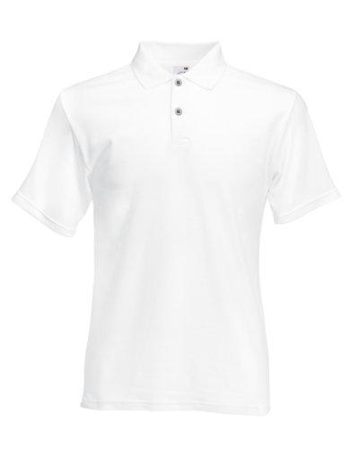 Herren Fruit Of The Loom Screen Stars Original Poloshirt Tshirt, 6 Farben-KOSTENLOSE LIEFERUNG S,White