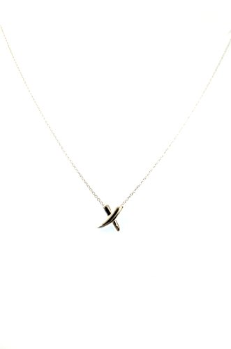 (ShopAA Silver X Marks The Spot Necklace)