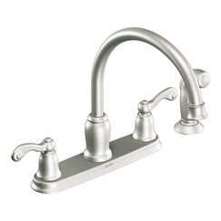 Moen CA87004SRS High-Arc Kitchen Faucet with Side Spray from the Traditional Collection, Spot Resist Stainless